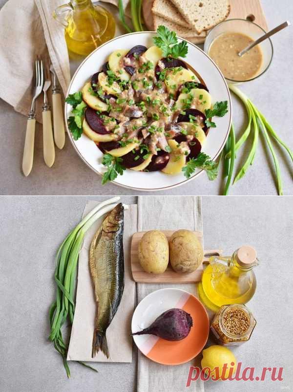 Салат из копченой рыбы   Вкусные кулинарные рецепты