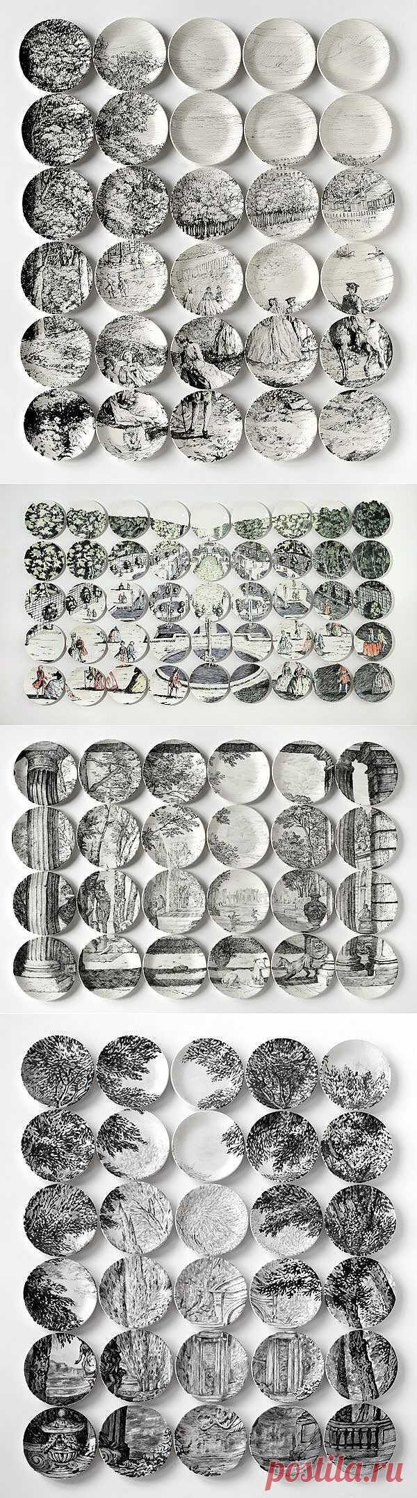 Картины, составленные ... из тарелок! (подборка) / Сервировка стола / Модный сайт о стильной переделке одежды и интерьера