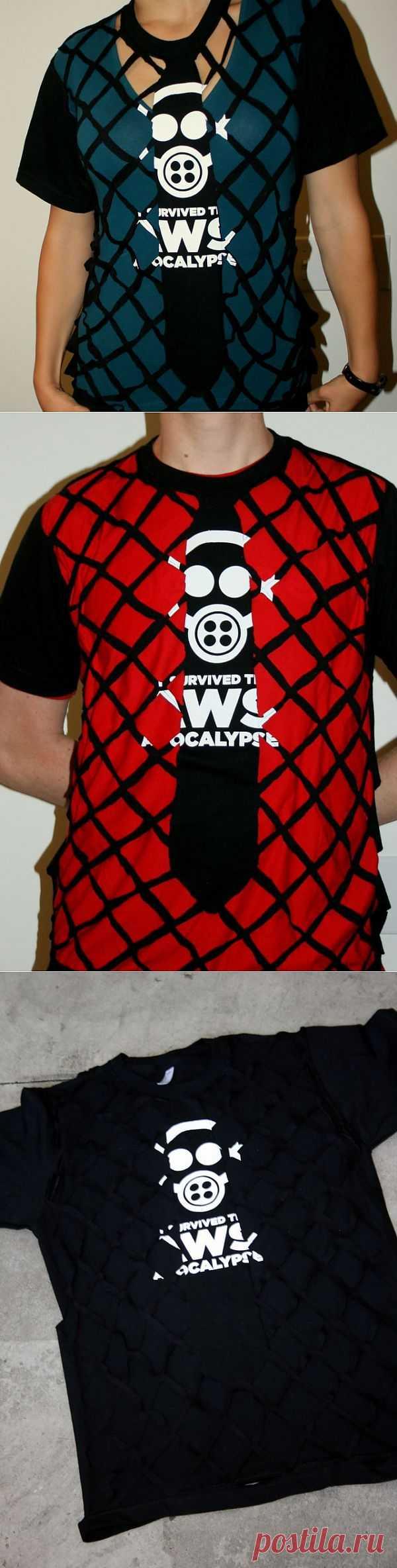 Футболка с галстуком / Футболки DIY / Модный сайт о стильной переделке одежды и интерьера