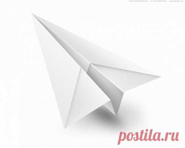 Как сложить самолетик из бумаги. (8 схем по клику на картинку).