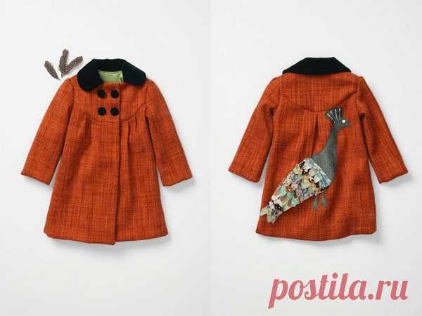 Птичья тема: пальто с павлином / Для детей / Модный сайт о стильной переделке одежды и интерьера