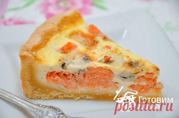 Пирог с лососем и сыром (киш лорен) - пошаговый рецепт с фото на Готовим дома