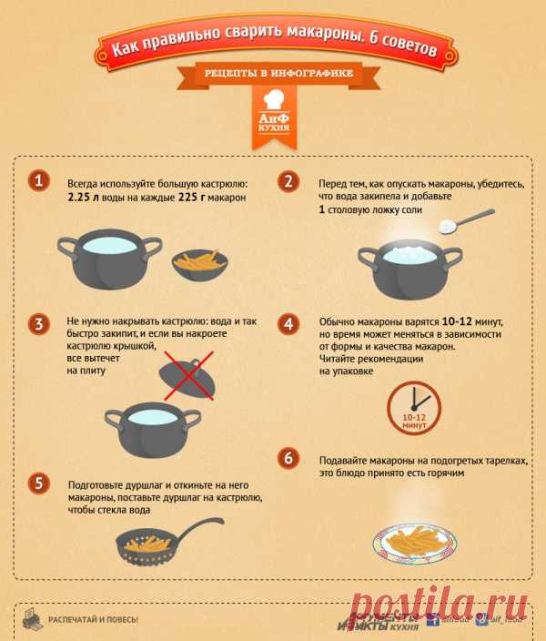6 советов как правильно сварить макароны