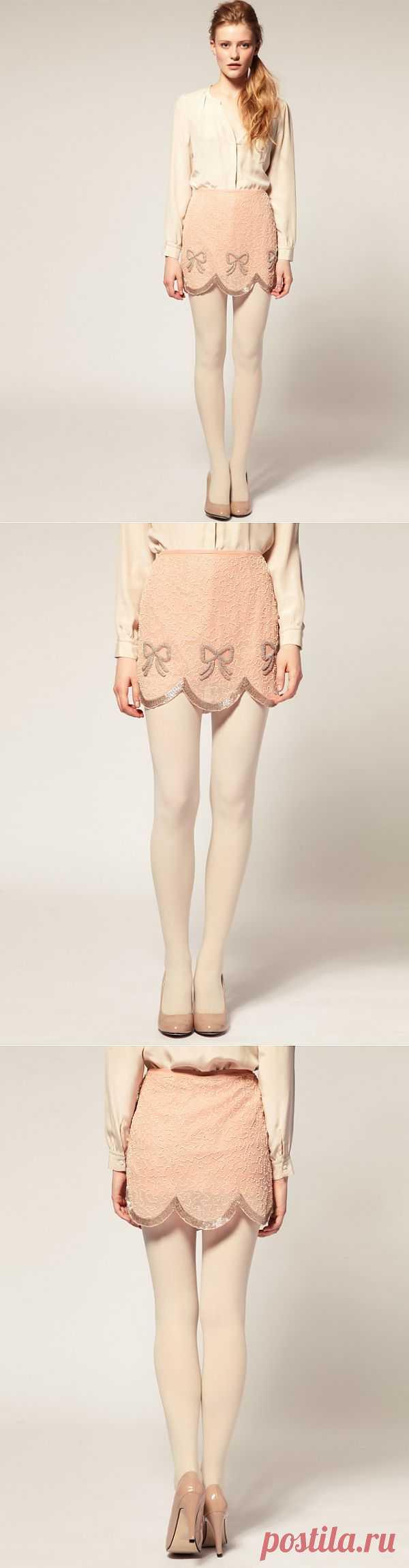 Юбка, вышитая бисером / Юбки и их переделки / Модный сайт о стильной переделке одежды и интерьера