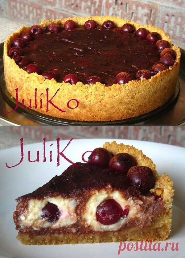"""Творожно-шоколадный торт с вишней """"СЮРПРАЙЗ"""""""