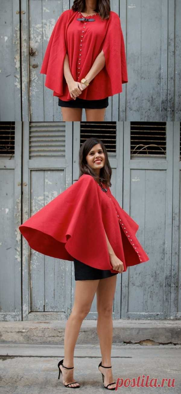 Модная идея из Гонконга: весеннее пончо