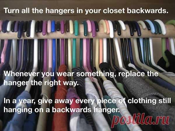 Как облегчить гардероб / Организованное хранение / Модный сайт о стильной переделке одежды и интерьера