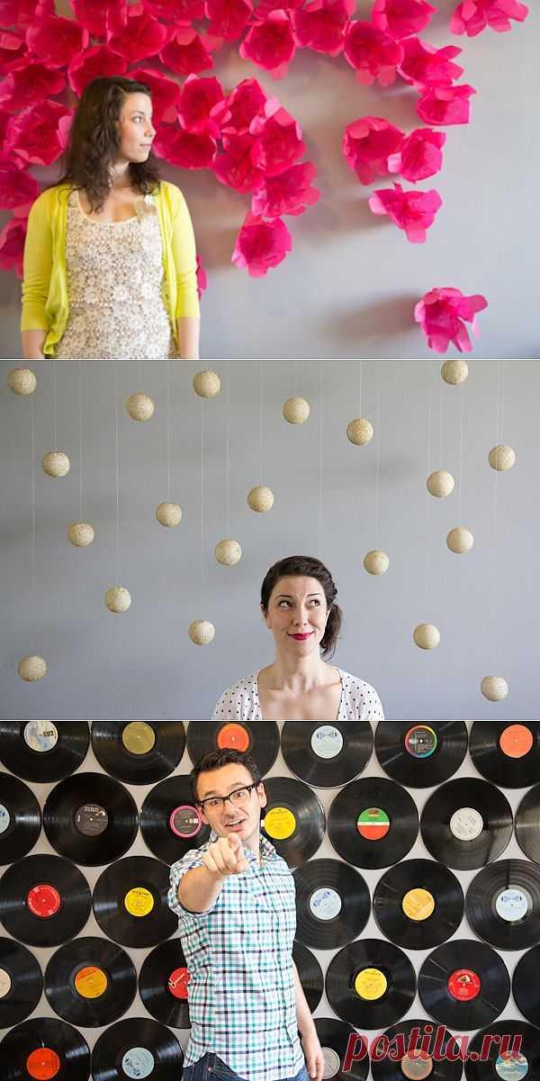 Пять идей как украсить стену для фотосессии (Diy) / Фото (идеи съемок) / Модный сайт о стильной переделке одежды и интерьера