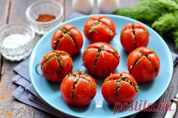 Малосольные помидоры в пакете, с чесноком и укропом – рецепт с фото