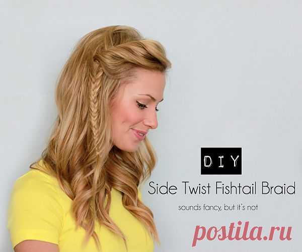 Заворот с косичкой / Прически / Модный сайт о стильной переделке одежды и интерьера