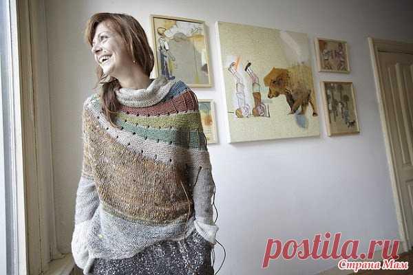 вязаная история 25 свитер радуга от стивена веста вязание