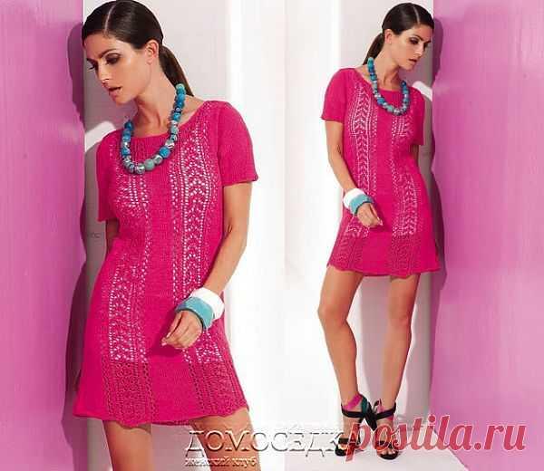 Ажурное мини-платье | ДОМОСЕДКА