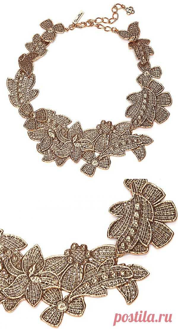 Кружевное ожерелье Oscar de la Renta (как повторить двумя способами) / Украшения и бижутерия / Модный сайт о стильной переделке одежды и интерьера