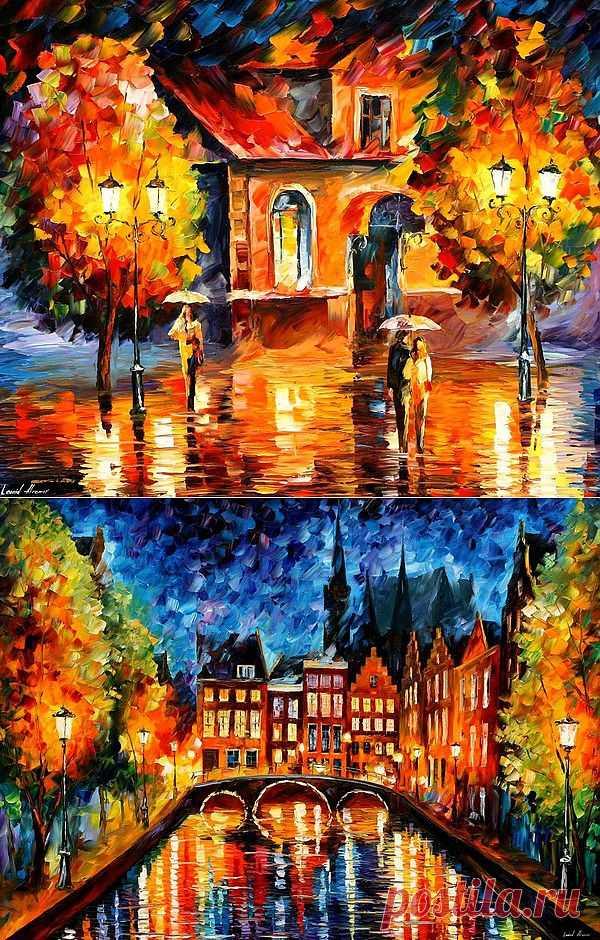 Блоги@Mail.Ru: Красочные города в яркой живописи Леонида Афремова