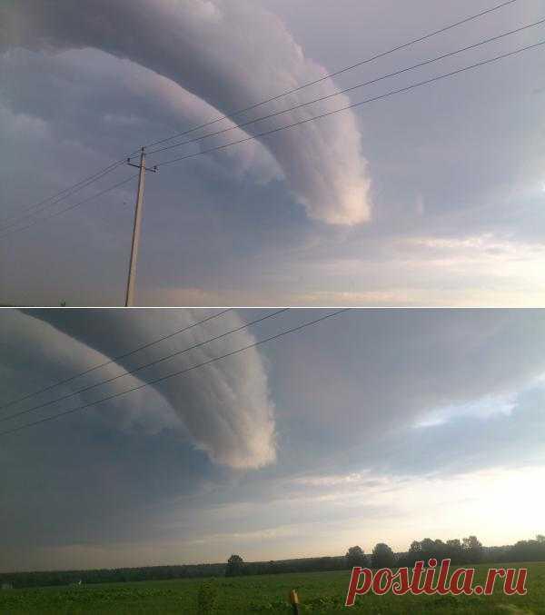 Необычное облако над Подмосковьем