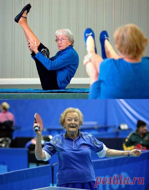 После этих фото вам будет просто стыдно жаловаться на усталость и хандрить. Американка Бернис Мэри Бейтс в свои 93 инструктор йоги. Австралийка Дороти Де Лоу представляла свою страну в соревнованиях ветеранов в возрасте почти 98 лет