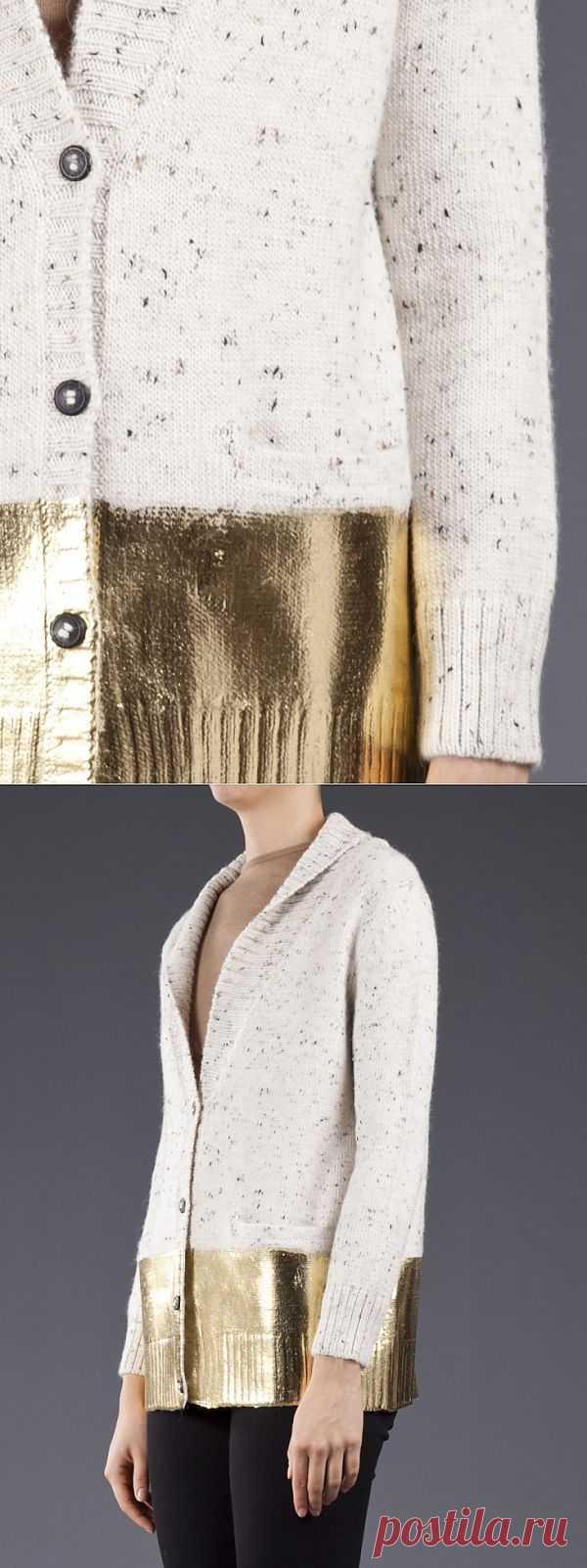 Эффект фольги Rachel Comey / Свитер / Модный сайт о стильной переделке одежды и интерьера
