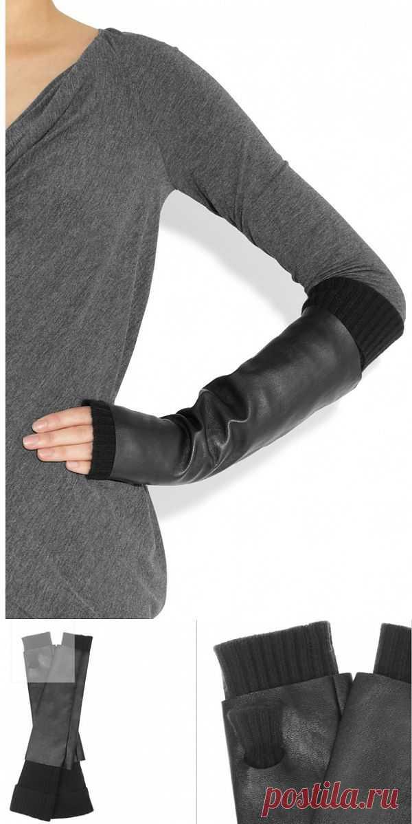Двойные митенки / Перчатки и варежки / Модный сайт о стильной переделке одежды и интерьера