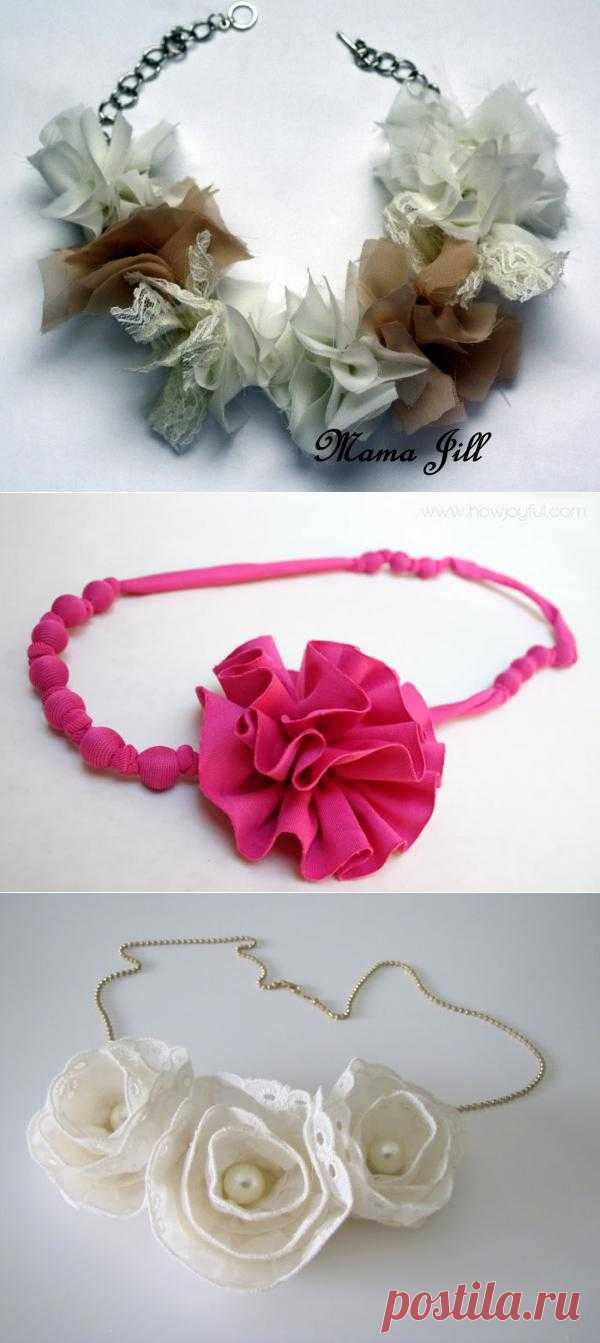 Цветочные ожерелья