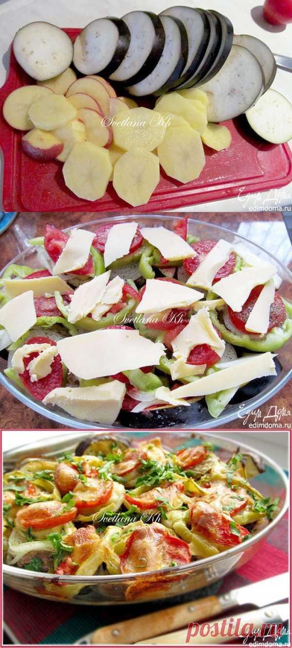 Баклажаны с мясом и овощами. Простое и вкусное блюдо, совмещает в себе мясо и овощи