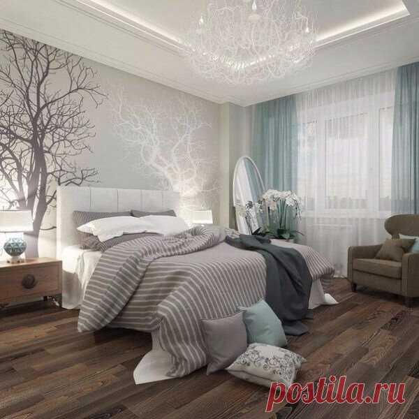 Нежная и лесная спальня)