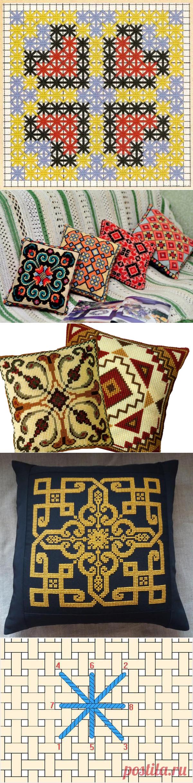 Вышивка болгарским крестом: техника выполнения, схемы и идеи