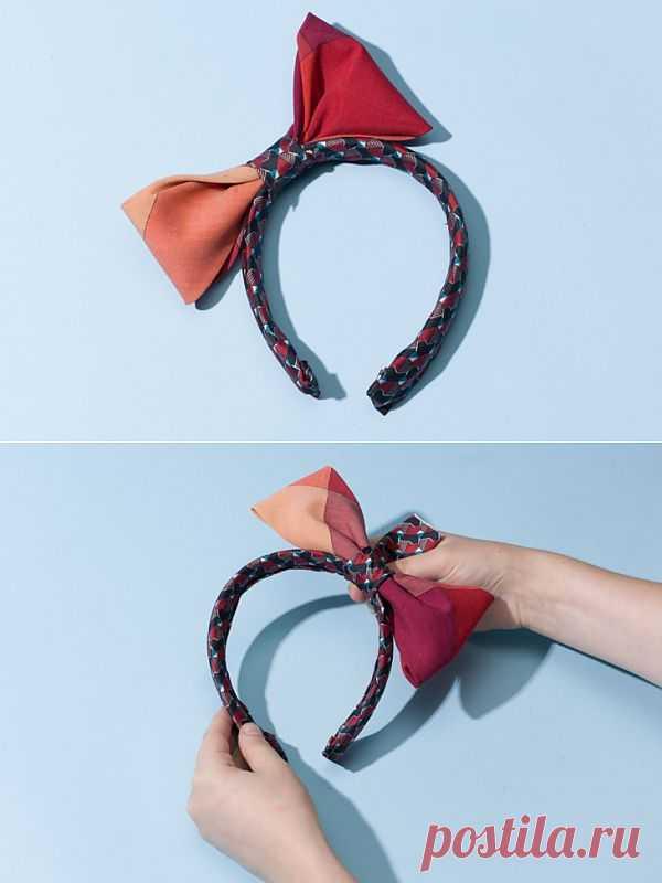 Ободок из двух галстуков (Diy) / Мужские галстуки / Модный сайт о стильной переделке одежды и интерьера
