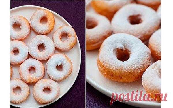 Творожные пончики.