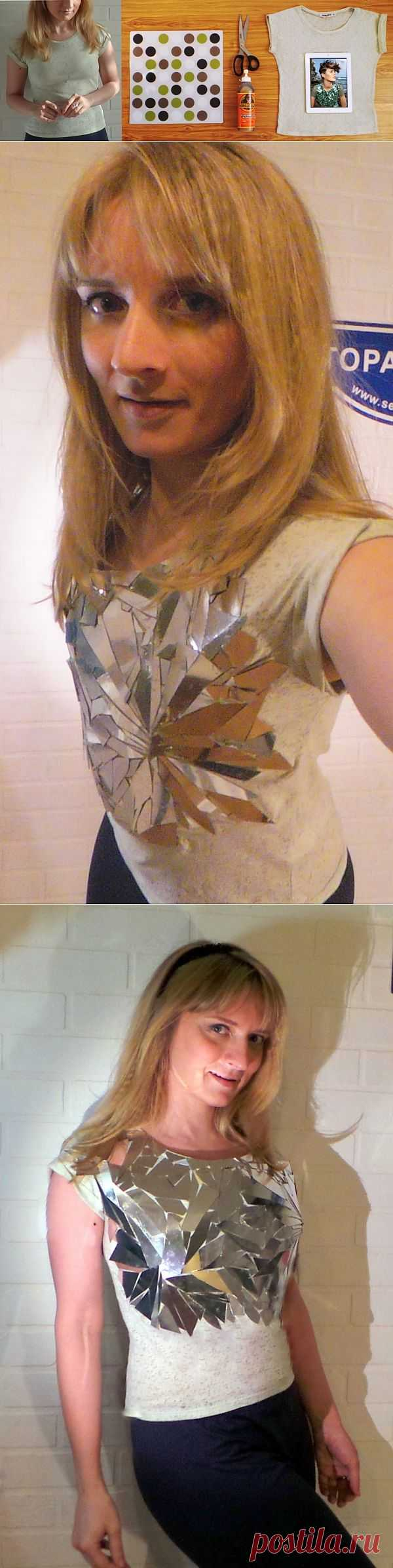 Зеркальная футболка (DIY) / Креатив / Модный сайт о стильной переделке одежды и интерьера