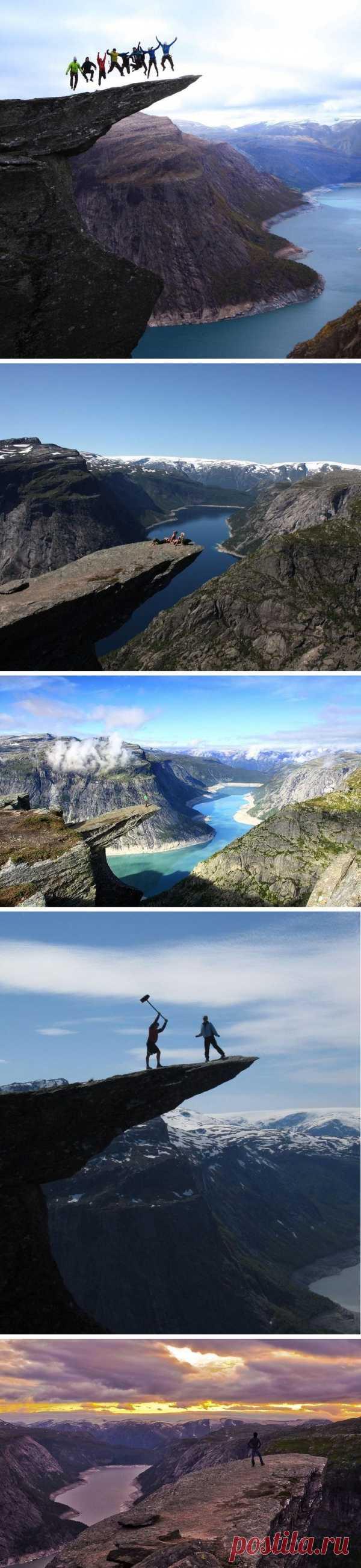 Над пропастью! Язык Тролля - захватывающее место в Норвегии