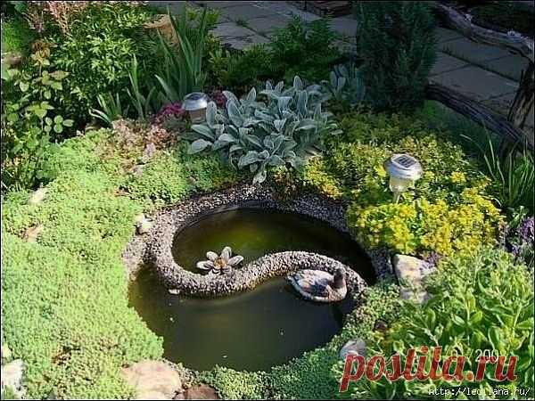 Continuamos recoger en la hucha de la idea para la casa de campo. ¡Aquí tales puede hacerse y su estanque en la casa de campo!