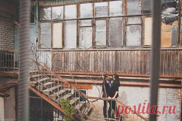 Городская прогулка: love-story Кости и Лиды - WeddyWood