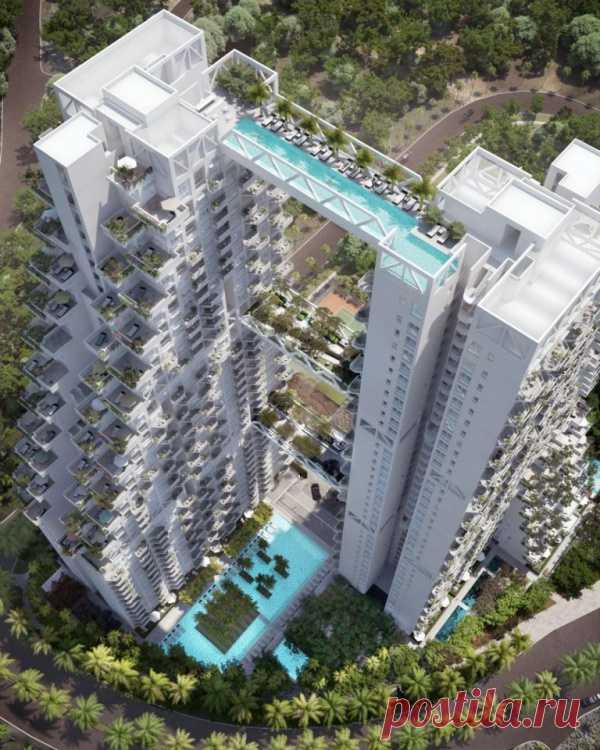 Sky Habitat - el complejo lujoso habitable en el Singapur