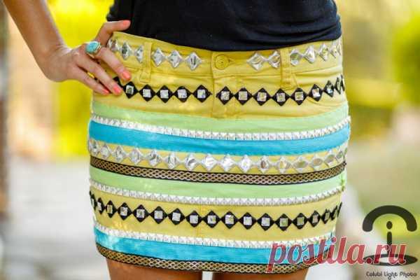 Этнический декор юбки