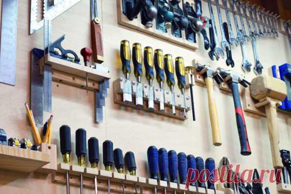 Организация хранения инструмента на стене гаража: инструкция как сделать | Obustroeno.Com