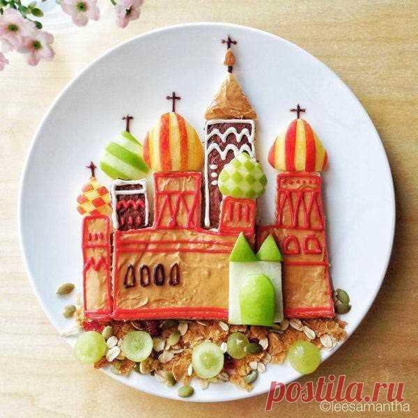 Картины на тарелках для детей