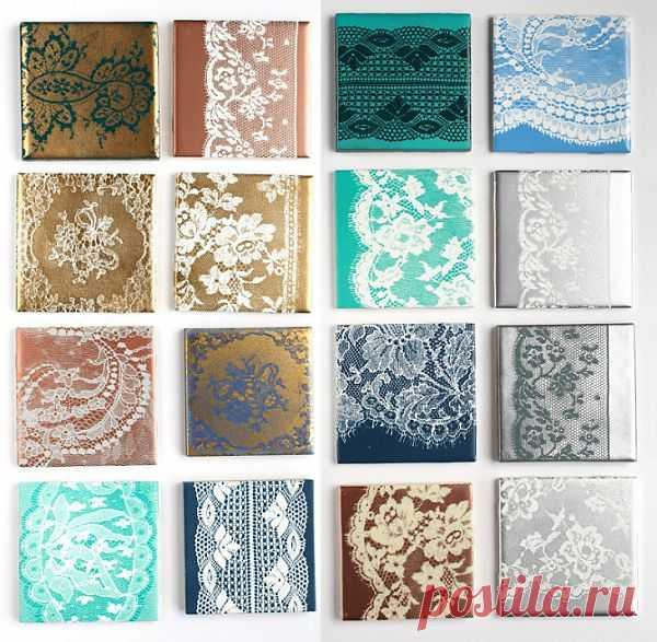 Кружевная плитка (Diy) / Декор стен / Модный сайт о стильной переделке одежды и интерьера