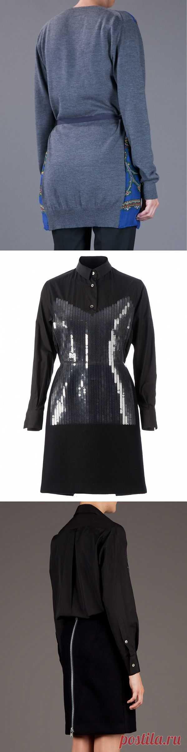Платки + кофты = идеи от Sacai (подборка) / Дизайнеры / Модный сайт о стильной переделке одежды и интерьера