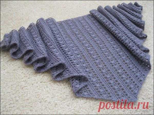 Мотивы для покрывала схемы вязания