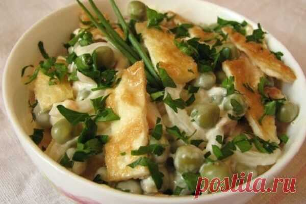 Диетический салат с курицей и омлетом - Советы для женщин