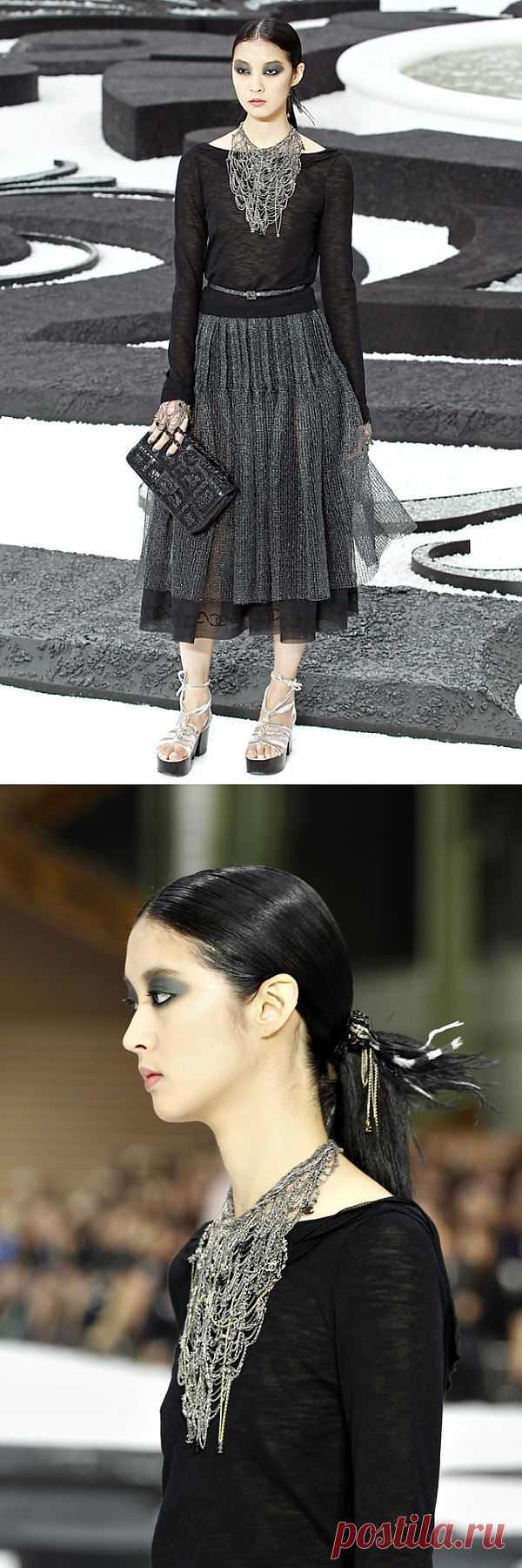 CHANEL: колье-паутина / Украшения и бижутерия / Модный сайт о стильной переделке одежды и интерьера