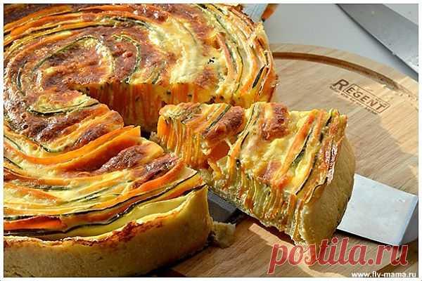 Пирог с цуккини и морковью.