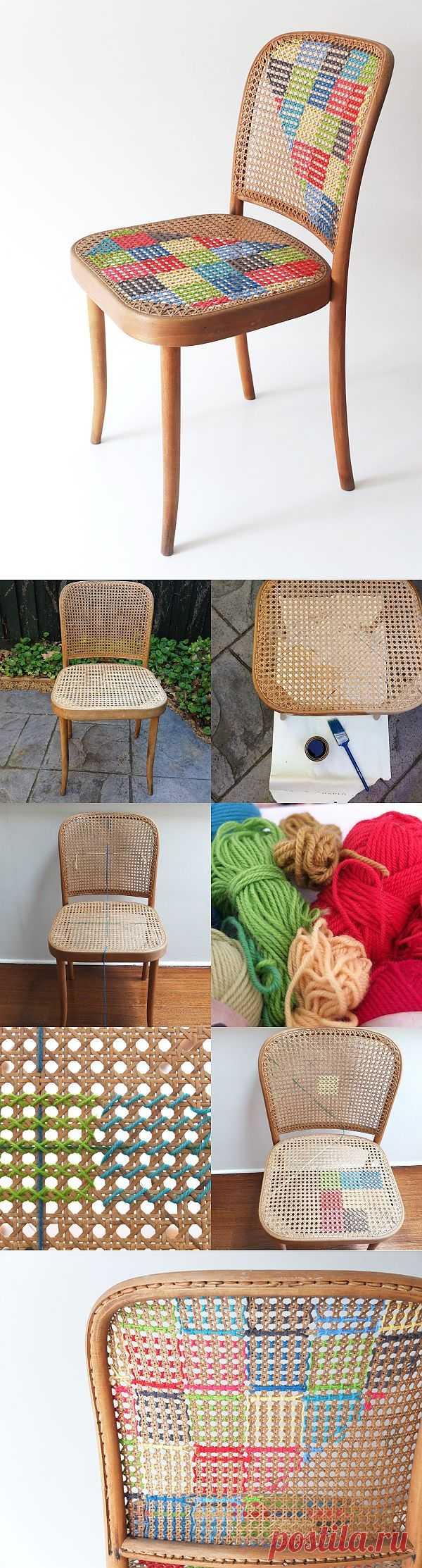 """""""Вышитый"""" стул (Diy) / Мебель / Модный сайт о стильной переделке одежды и интерьера"""