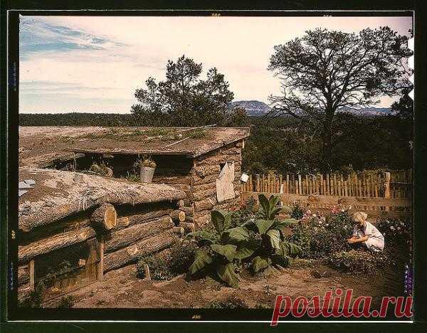 Простой уютный деревенский дворик (Pie Town, New Mexico)