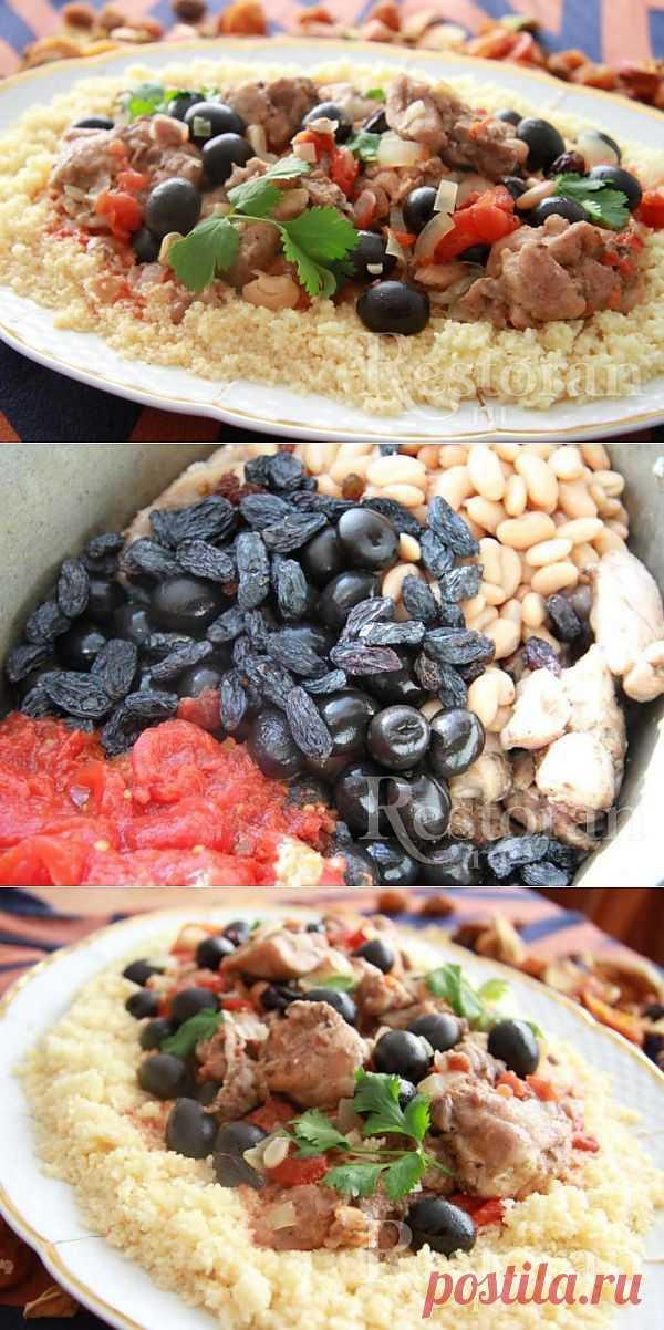 Жаркое по-маррокански. Кухня Марокко – это баланс простоты и декаданса, зависящий от сезона. Популярна баранина, говядина, курица и верблюжатина. Основной источник углеводов – кус-кус, хлеб, рис и бобовые, также как и огромно употребление корневых овощей, зелени и сезонных фруктов.