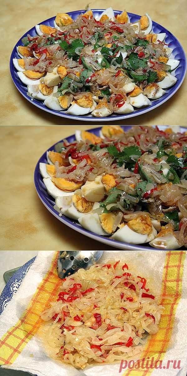 Тайский салат из яиц . Интересный рецепт чуть сладкого салата из тайской кухни.