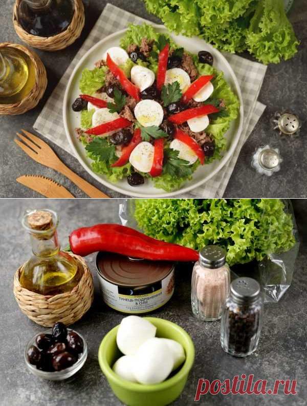 Салат с тунцом и болгарским перцем | Вкусные кулинарные рецепты