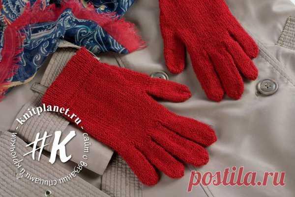 Планета Вязания | Перчатки спицами на весну и осень. Мастер-класс по вязанию от Ольги Боган.