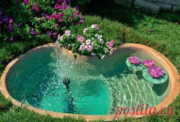 Как сделать на даче декоративный пруд?