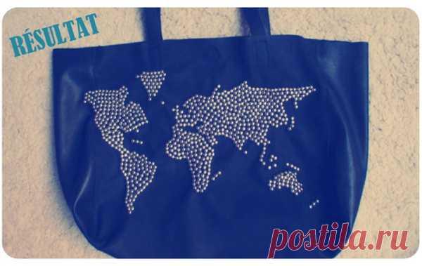 Идея для Вашей сумки: карта мира